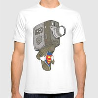 Super8 Mens Fitted Tee White SMALL