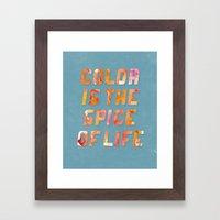 Spice Of Life Framed Art Print