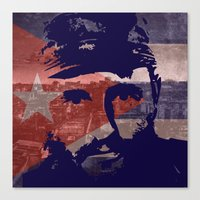 Heads Of State: Fidel Ca… Canvas Print