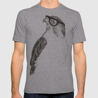 Hawk with Poor Eyesight Mens Fitted Tee Athletic Grey SMALL