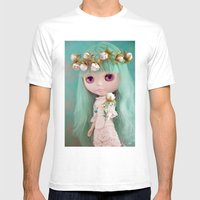 Enchanted Petal Mens Fitted Tee White SMALL