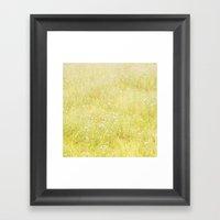 Sweet Light Wild Flowers Framed Art Print