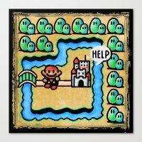 Super Mario 3 Level 1 Canvas Print
