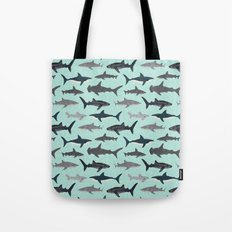 Sharks nature animal illustration texture print marine biologist sea life ocean Andrea Lauren Tote Bag