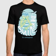 Smile It's contagious :D Mens Fitted Tee Black SMALL