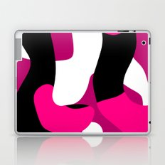 Pink black and white Abstract 3 Laptop & iPad Skin