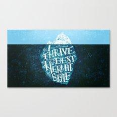 Hermit Iceberg Canvas Print