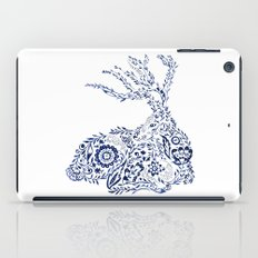 Folk Floral Indigo Deer iPad Case