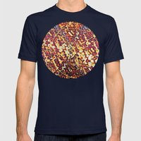 Kashmir Mens Fitted Tee Navy SMALL