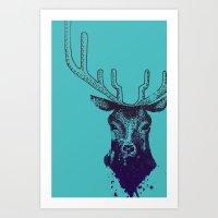 DEER B Art Print