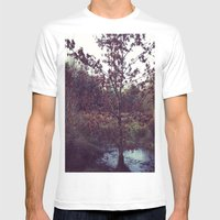 Autumn Tree Mens Fitted Tee White SMALL