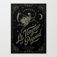 Le Vengeur de Pégoud (black/gold) Canvas Print