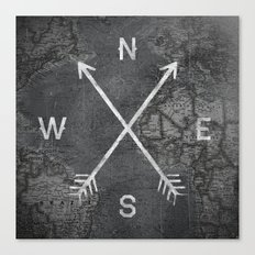 Compass (Map) Canvas Print
