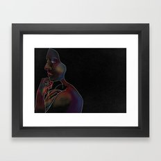 Woman on Black #2 Framed Art Print