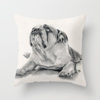iPug Throw Pillow
