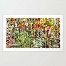 Crimson Petal's Lying Decay Art Print