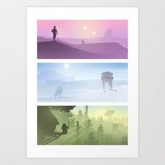 Planetscape Trilogy Art Print