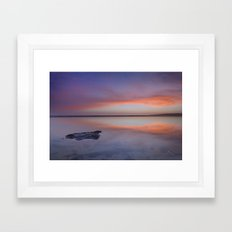 Purple reflections at the sea. Bolonia Framed Art Print