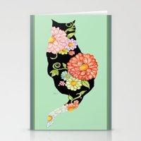 Elegant Kitty Silhouette… Stationery Cards