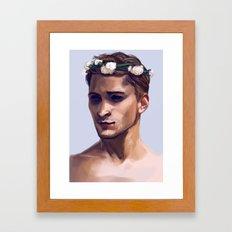 Flower Crown Alistair Framed Art Print