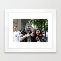 D*Con: Happiness is... Framed Art Print