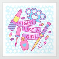 Girl Fighter Art Print