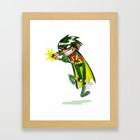 Robin, The Boy Wonder Sk… Framed Art Print