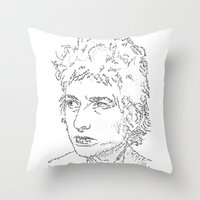 Bob Dylan WordsPortrait  Throw Pillow