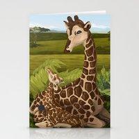 Giraffes, A Mother's Lov… Stationery Cards