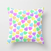 I HATE Valentines Day  Throw Pillow