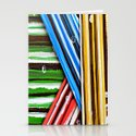 Striped Planes Stationery Cards
