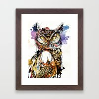 Owl Sounds Framed Art Print