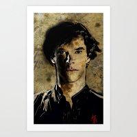 Cumberbatch As Sherlock … Art Print