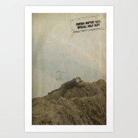 Yeti Climb Art Print