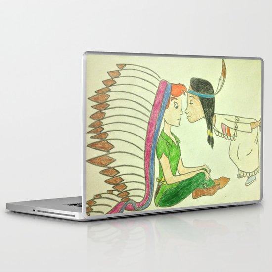 Peter Pan and Tiger Lily Laptop & iPad Skin