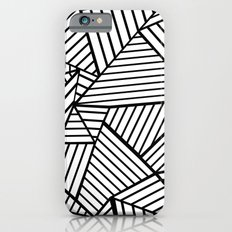 Abstraction Lines Close Up Black and White Slim Case iPhone 6s