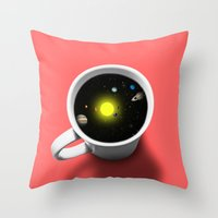 Cup Of Universe Throw Pillow