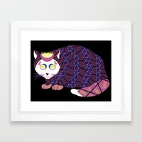 Abstract Cat [WHITE] Framed Art Print