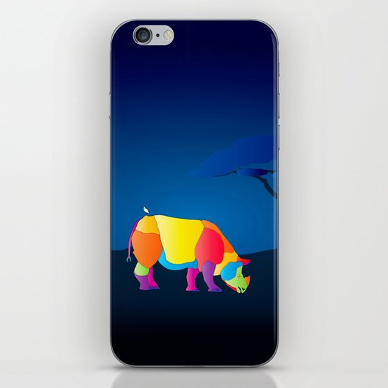 Paper Craft Rhino iPhone & iPod Skin