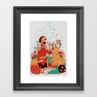 Overgrowth Explorer Framed Art Print