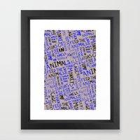 Animal Type Block Framed Art Print