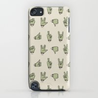 iPod Touch Cases featuring Zombie Hands by Deniart