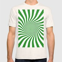 Swirl (Forest Green/White) Mens Fitted Tee Natural SMALL