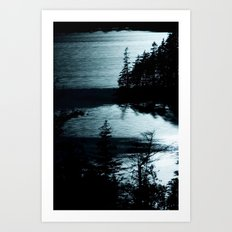 Moonlit Lake Art Print
