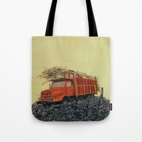 Sugar Cane And Truck On … Tote Bag
