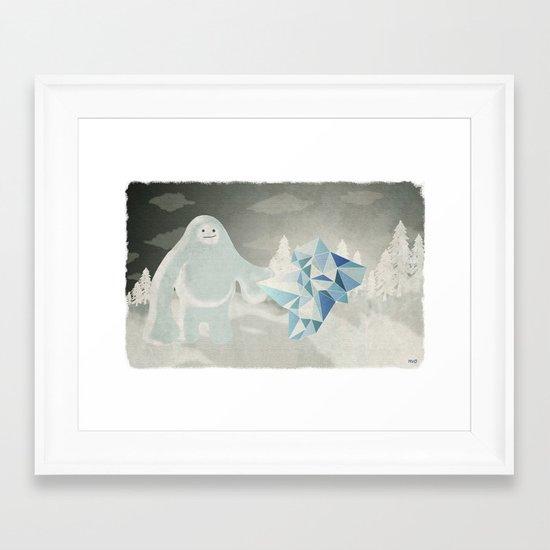 Un yeti Framed Art Print