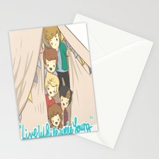 One Direction Live Like We're Young Cartoon 2 Stationery Cards
