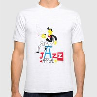 jazz appeal Mens Fitted Tee Ash Grey SMALL