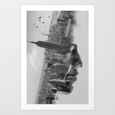 Vision mono Art Print
