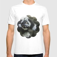 Lemur In The Glass Mens Fitted Tee White SMALL